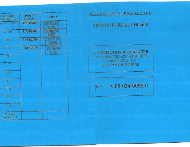 AUTORISATION ENSEIGNER PATRICE image 2